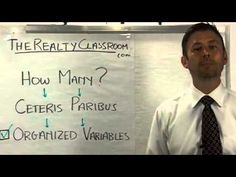 Danny Griffin - The Realty Classroom - Variables? Real Estate Agent Coaching Training by Danny Griffin discusses why the concept of 'ceteris paribus' is a danger to real estate agents. Read the Blog post here: http://www.therealtyclassroom.com/?p=1664