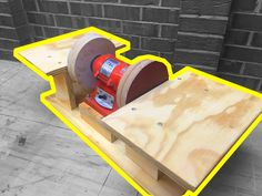Home made double disc sander for under $5!