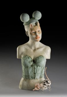 """Lisa Clague """"Dreaming in Clay with Metal"""" Workshop at MudFire Clayworks in Atlanta-Decatur, Georgia Contemporary Sculpture, Contemporary Paintings, Ceramic Figures, Ceramic Art, Metal Workshop, Art Corner, Unusual Art, Sculpture Art, Ceramic Sculptures"""