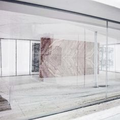 Japanese architects SANAA w installation at the Mies van der Rohe Pavilion in Barcelona, Spain. Conceptual Model