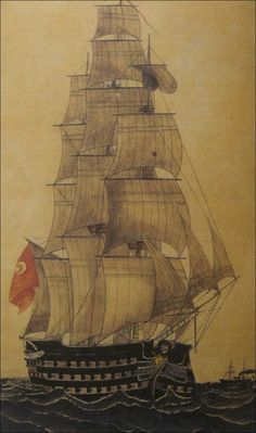 Ottoman Navy and List of Battleships Boat Drawing, Ship Drawing, Maritime Museum, Nautical Art, Ottoman Empire, Ship Art, Tall Ships, Model Ships, Battleship