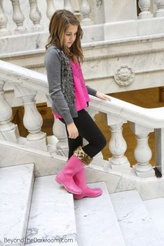 Tween | SALT meandmessy3.com She's into gumboots right now.