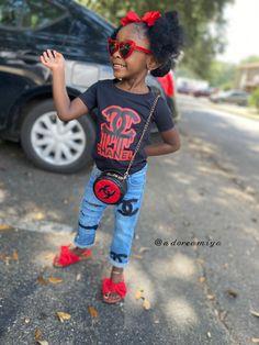 Black Kids Fashion, Little Kid Fashion, Cute Kids Fashion, Baby Girl Fashion, Toddler Fashion, Little Girl Swag, Cute Little Girls Outfits, Cute Swag Outfits, Kids Outfits