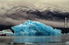 Blue Iceberg in Greenland