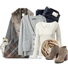 """""""tan and gray"""" by stacy-gustin on Polyvore"""
