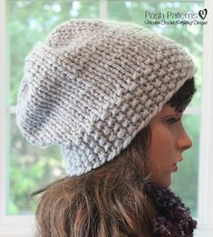 This elegant slouchy hat pattern is easy to make, perfect for beginners, and a super fun knitting pattern. It uses a super bulky yarn to it is a fast project, making it ideal for gift giving. Make one for the whole family!  Sizes included: Newborn, Baby, Child, 5T to Adult, Large Adult.  This is a KNITTING PATTERN ONLY--NOT A FINISHED PRODUCT.  NOTE: This pattern is an INSTANT DOWNLOAD pattern. You will receive an email immediately following your confirmed payment, which will include your…