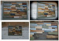 frame, recycled pallet, timber, wall It is a good way to make amazing wall deco with off cuts :).I used only pallets, and recycled timber from everywhere. I found the window frame and I made that Unique modern wall wooden art frame. I do lots of work with nothing at the start, but