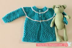 Blog By Day: Casaco Azul e Branco com Pipoquinha :: Receita