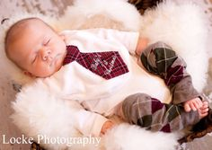 Baby's 1st Christmas, Baby Boy Tie Bib, Tie Bodysuit, and Leg Warmers. Thanksgiving Holiday Fall Harvest Red Black Plaid Green Personalized