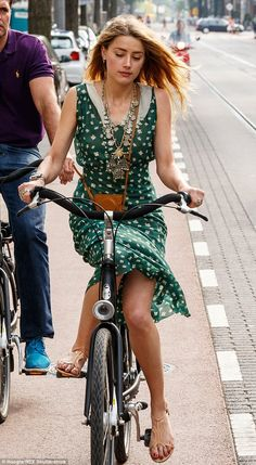 Green with envy? The stunning actress opted for a pretty vintage-style dress with a cute p...