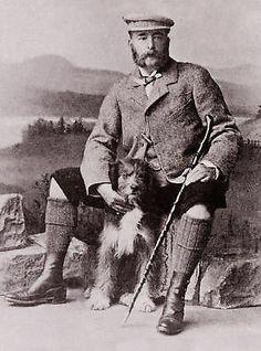 BEARDED COLLIE SCOTTISH SHEPHERD KILT LITTLE DOG PRINT