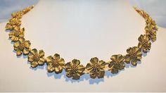 Vintage Tiffany Co Classic Dogwood Flower Blossom Neck 18K Gold $40K Value | eBay