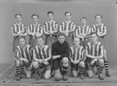 Fotballklubben Kvikk fotografert i1945