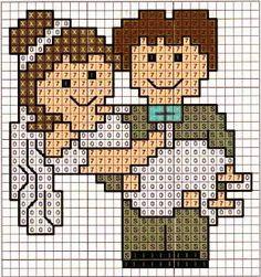 sposi - bride - punto croce