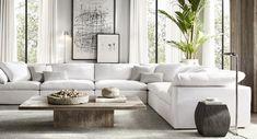 Home Design Ideas Living Room Interior, Home Living Room, Home Interior Design, Living Room Designs, Modern Living Room Furniture, Modern Living Room Decor, White Couch Living Room, Modern Contemporary Living Room, Coastal Interior