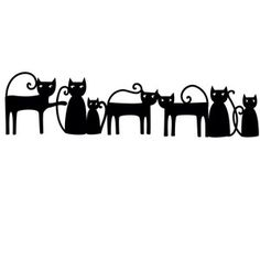 Silhouette Design Store - View Design #155461: black cats border
