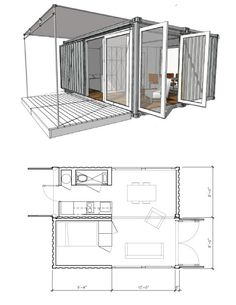 2-8x20 container house