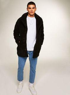 f7b2481c331 Black Faux Fur Pea Coat - Shop All