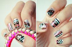 Uñas étnicas #manicura #étnica #colores #cool #uñas