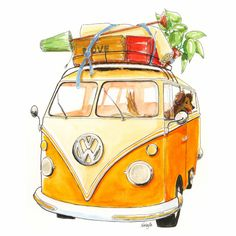 Verhuiskaart Volkswagen busje