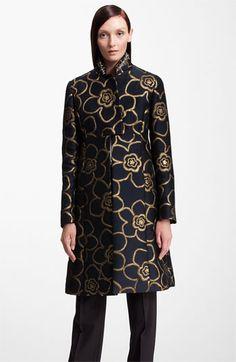 Marni Jewel Collar Metallic Jacquard Coat available at #Nordstrom