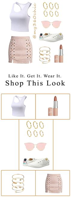 Click to shop this look! Women's Summer Fashion Inspo Outfits Pink & Cute. Gold Frame Pink Cat Eye Sunglasses, Pink Pleated Skirt, White Racerback Cropped Top, Gold Cuff Bracelets, Gold Tone Midi Stacking Plain Rings, White Bayshore Sneaker Shoes, Rimmel Lasting Finish Lip by Kate Moss for a put together chic summer outfit. #summeroutfits #summeroutfitcasual #summeroutfitcute #summeroutfitshopthislook #summeroutfitshopcute #summeroutfit2020 #summeroutfitchic #womensfashion #cutesummeroutfits Chic Summer Outfits, Summer Outfits Women, Women's Summer Fashion, Trendy Fashion, Cool Outfits, Womens Fashion, Fashion Tips, Shop This Look Outfits, Pink Pleated Skirt