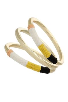 Topshop thread-wrapped bangles
