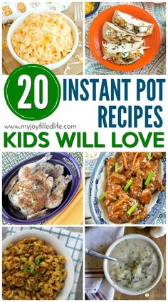 Kids Meals Instant Pot Recipes Kids Will Love - If you have kids and an instant pot, these are recipes you'll want to try! - If you have kids and an instant pot, these are recipes you'll want to try! Best Instant Pot Recipe, Instant Pot Dinner Recipes, Instant Recipes, Family Meals, Kids Meals, Easy Meals, Freezer Meals, Instant Pot Pressure Cooker, Pressure Cooker Recipes