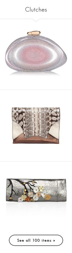 """""""Clutches"""" by nusongbird ❤ liked on Polyvore featuring bags, handbags, clutches, silver, handbag purse, man bag, benedetta bruzziches, hand bags, metallic handbags and genuine leather purse"""