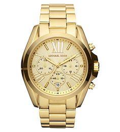 MICHAEL KORS Mk5605 Bradshaw Gold-Plated Watch. #michaelkors #womens fashion watches