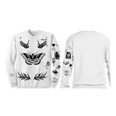 Harry Styles Tattoos Updated Sweatshirt Sweater by DezignPlague