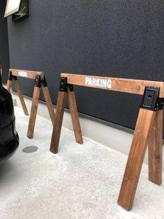 #駐車場看板#ソーホースブラケット#DIY