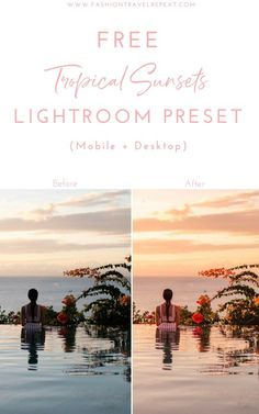 Free sunrise and sunset preset for editing your photos in Adobe Lightroom. Learn to edit your pictures in Lightroom and become a better travel photographer! Lightroom Gratis, Lightroom Presets, Photography Filters, Photoshop Photography, Photography Tutorials, Dark Feed, Vsco Gratis, Mixed Media Photography, Inspiring Photography