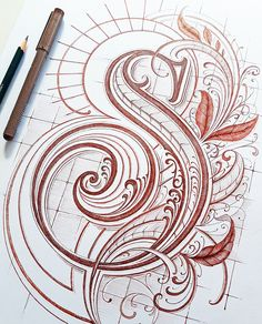 Collection of original hand-drawn lettering & typography designs made with analogue and digital media in 2017 and the beginning of Graffiti Lettering Fonts, Tattoo Lettering Fonts, Hand Lettering Alphabet, Alphabet Design, Hand Drawn Lettering, Creative Lettering, Lettering Styles, Calligraphy Letters, Letter Designs