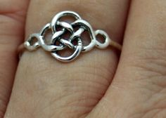 Sterling silver celtic knot ring knot ring by CapturedIllusions, $28.00