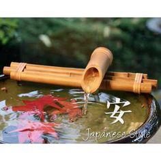 Japanese shishi odoshi water fountain japanese water - Japanese indoor water fountain ...