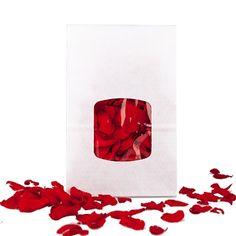 Echte Rosenblätter, rot