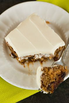 Oatmeal-Raisin Snack Cake with Cream Cheese Frosting