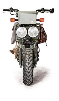 Petersen Hunting built up a Honda Ruckus and it just wouldn't be complete without some Saddleback Leather. Come have a look!