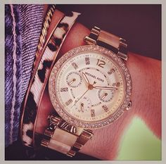 Michael Kors Gold/Horn Parker Watch MK5632 (V Mei)...<3