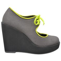 Clownin Wedge Gray, $65, now featured on Fab.