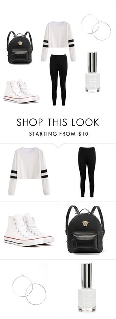 """""""Ballin"""" by lola2bravo on Polyvore featuring Boohoo, Converse, Versace and Topshop"""