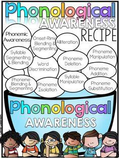 Phonological Awareness recipe FREEBIE via Clever Classroom