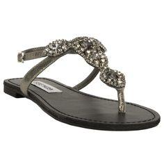 Steve Madden Glaare Jeweled T-Strap Sandal