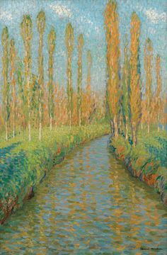 Poplars Along the River in Fall by Henri-Jean Guillaume Martin | Art Posters