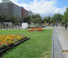 Sapporo Japan Odori Park in Sapporo, Japan. Below this park is a huge mall.