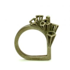 "nicole schuster: Ring ""Parasites mini"" Silver & Rainforest Topas. 2013"