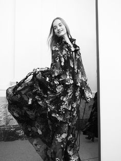 Free and flou – a Fall-Winter 2015 dress billows backstage