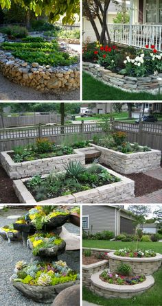 Backyard Landscape Design Ideas For Your Home Stunning Stone Flower Beds You Can Easily Make (click through for more ideas!)Stunning Stone Flower Beds You Can Easily Make (click through for more ideas! Stone Landscaping, Small Backyard Landscaping, Landscaping With Rocks, Landscaping Ideas, Landscaping Blocks, Nautical Landscaping, Mulch Ideas, Stone Flower Beds, Rock Flower Beds