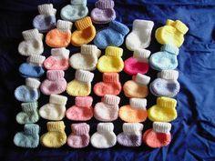 Explications chaussons bébé 36 semaines par chouchou - abracadafil